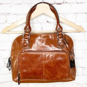 Giani Bernini Brown 100% Leather Handbag NWT
